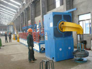 Customized 1440rpm Wire Rod Shot Blasting Machine , Wire Cleaning Machine For Casting Industry
